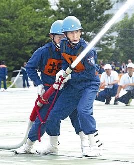 県操法大会で活躍した第4分団が出演する※写真は昨年の県大会