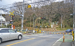 星谷寺近くの踏切「相武台前6号」