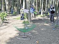 ターゲット・バードゴルフに汗