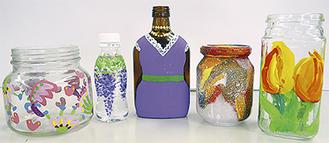 「瓶にアート」完成作品