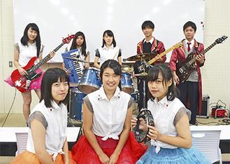 座間高軽音楽部バンド「hight cut」のメンバー