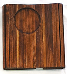 細い木材を繋ぎ合せた「クルクルソファコースター」