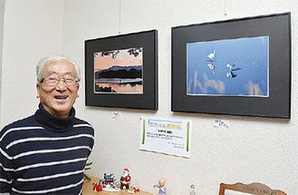 吉田さんと展示写真