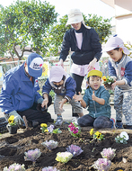 花壇整備で育む郷土愛