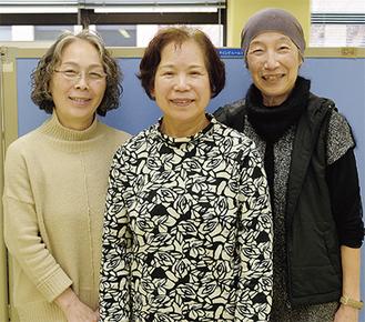 左から長嶋さん、戸田会長、大崎さん