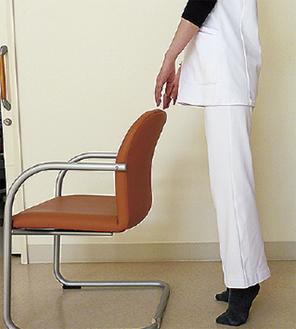 椅子を使った踵上げ運動