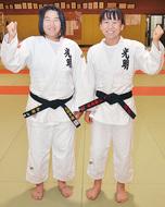 姉妹で柔道関東大会へ