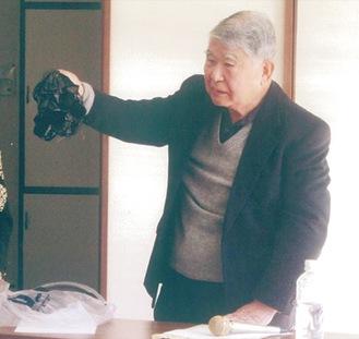 防災講話を行った石川さん(提供写真)