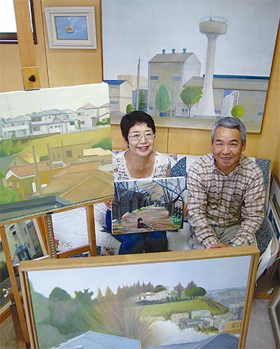 夫婦初の絵画展
