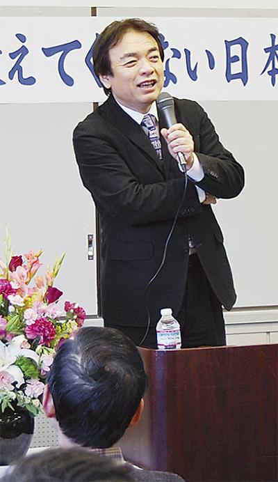 井沢元彦氏が講演