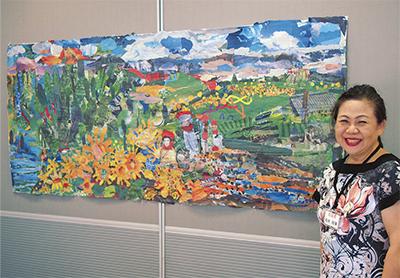芸術家と市民220人が共作