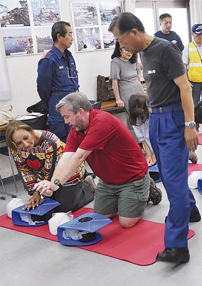 外国人向け防災訓練
