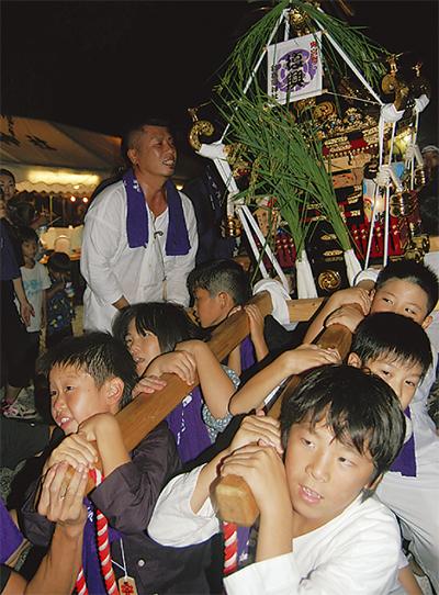 子ども神輿の担ぎ手募る
