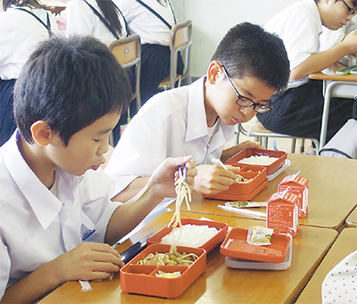 選択式給食、2校で開始