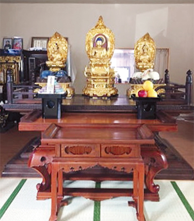 古来の仏具、被災寺に