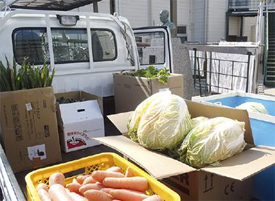 手作り野菜、養護施設へ