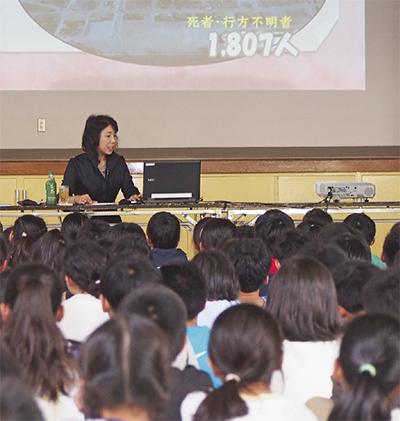 生の震災体験、子ども達へ