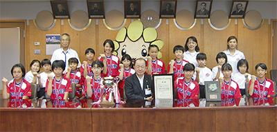 日本一、市長に誓う