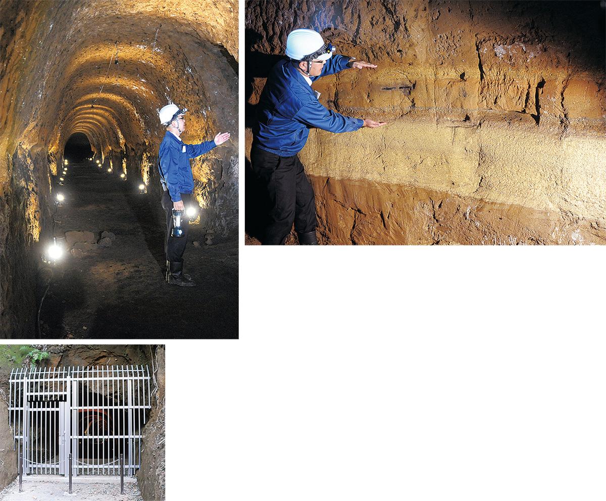地下壕を初公開