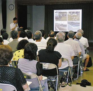 市のセミナーでは被災地での支援活動を報告