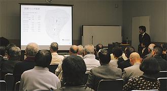 愛名・高松山 前方後円墳の「根拠なし」 市教委調査の結果検討会