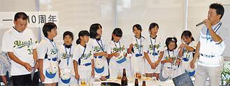 県大会で初陣を飾った厚木SC少女が紹介された