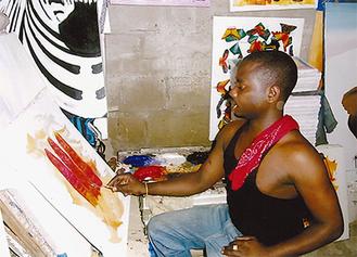 「キスマサイ」を描くアーティスト