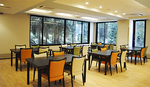 館内のレストラン(3階の共有スペース)