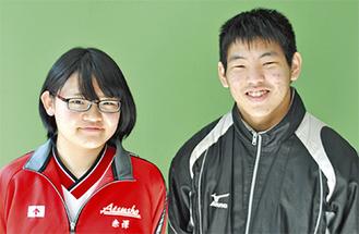 村田君(右)と赤澤さん