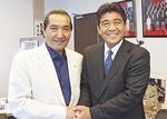 母校日本体育大学松浪健四郎理事長と