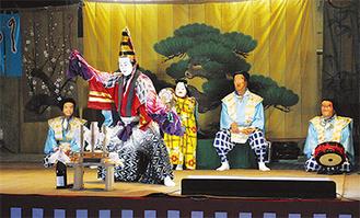 幕開けとして披露された「寿式三番叟付五人囃子」