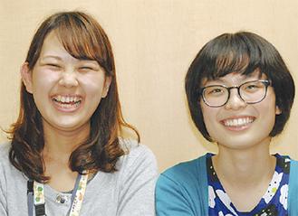 担任の高橋先生と末田さん(右)
