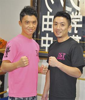 定常さん(左)と倉永トレーナー