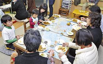 多様な世代が食卓を囲んだ