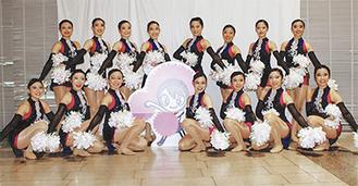 全米大会に出場する厚木高校ダンスドリル部「IMPISH2016」=(同部提供)
