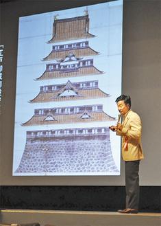 江戸城再建について語る松沢氏
