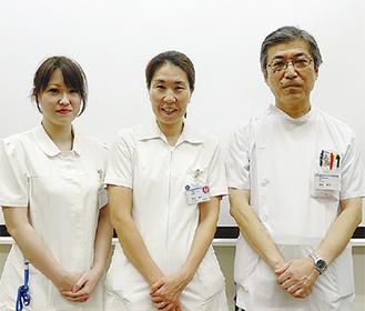 右から産婦人科の飯塚医師、根岸助産師、飯島助産師