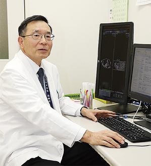 山田拓司院長。専門は消化器科(肝臓病)。横浜DeNAベイスターズの大ファン