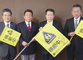 浅生建一会長(中央左)