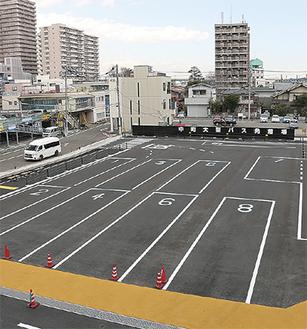 整備された中町大型バス発着場