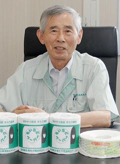 更なる資源化とごみ減量に意欲を見せる尾島理事長