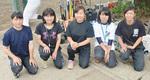 右から岩田さん、村林さん、江渡さん、今井さん、竜崎さん