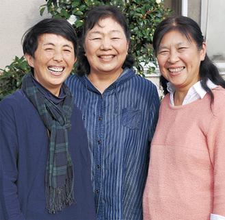 (左から)大沢さん、石嶋部会長、柳田さん