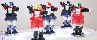 音楽に合わせて軽快に踊るロボットアイドル『アイドロイド5』