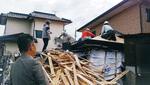 熊本地震での被災建築物調査(益城町)