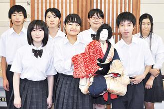 取材当日の人形浄瑠璃部のメンバー