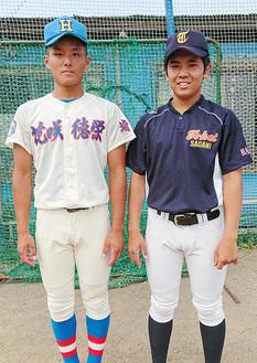 浅見選手(左)と野口選手(右)