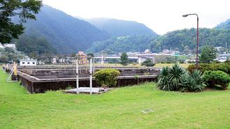 事業の中心地である横須賀水道半原水源地跡地。大正10年に旧海軍が建設し、約53Km離れた横須賀市まで送水した。終戦後は同市が所有し2015年に用途廃止された