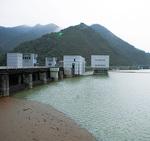 水位の上がった宮ヶ瀬ダム