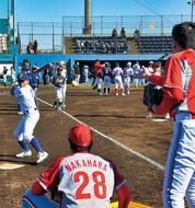 野球部OBが野球教室